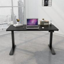Hanover 55-In. Assembled Electric Sit or Stand Desk with Adjustable and Programmable Heights, Black, HSD0421-BLK