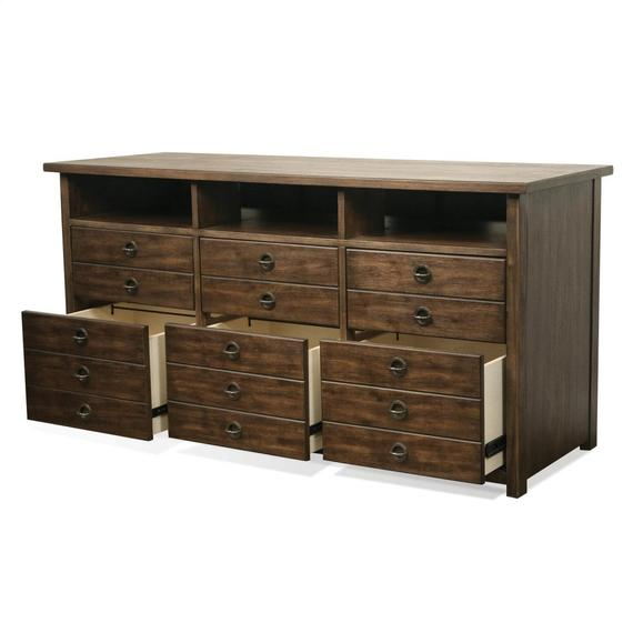 Riverside - Perspectives - Entertainment File Cabinet - Brushed Acacia Finish