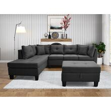 9122 Linen Sectional Sofa - LEFT