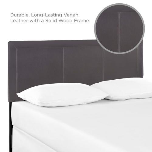 Modway - Isabella Queen Upholstered Vinyl Headboard in Brown
