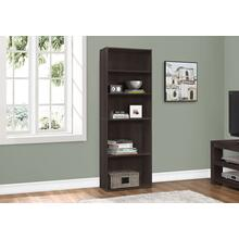 "BOOKCASE - 72""H / ESPRESSO WITH 5 SHELVES"