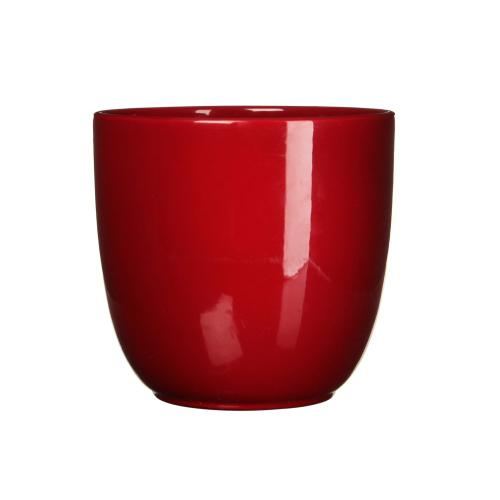 Tusca Round Planter Gloss Red (min.4pcs)