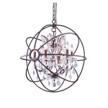 See Details - Geneva 6 light Rustic Intent Chandelier Clear Royal Cut crystal
