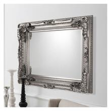 GA Carved Louis Mirror Silver