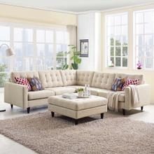 See Details - Empress 3 Piece Upholstered Fabric Sectional Sofa Set in Beige