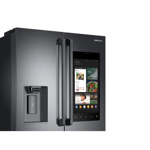 22 cu. ft. Family Hub™ Counter Depth 4-Door French Door Refrigerator in Black Stainless Steel