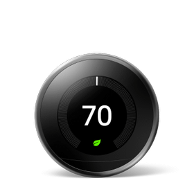 Nest Learning Thermostat 3rd Gen Mirror Black 1 Pack