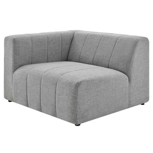 Bartlett Upholstered Fabric Left-Arm Chair in Light Gray