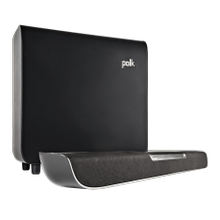 Dialogue-Enhancing Sound Bar System in Black