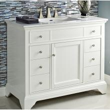 """See Details - Framingham 42"""" Vanity - Polar White"""