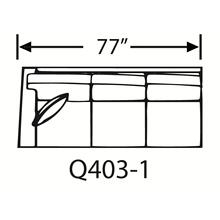 Sectional Component-One Arm Queen Sleeper, Skirted.