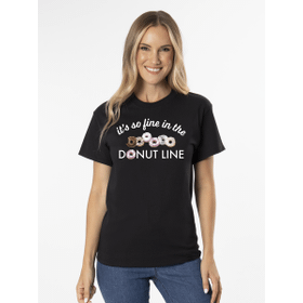 Life is Fine in the Donut Line T-Shirt - XXL