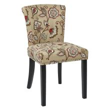 Kendal Chair In Avignon Bisque Fabric With Nailhead Detail and Solid Wood Legs