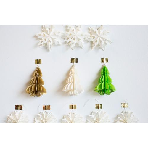3.5'' x 5'' Green Holiday Paper Tree Ornament