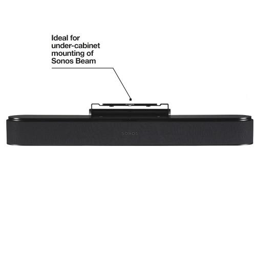 Black- For wall or under-cabinet mounting, with tilt functionality.
