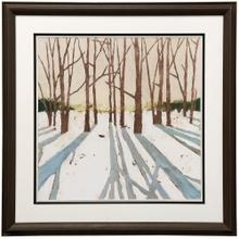 See Details - Winter Shadows II  43in X 43in  Framed Print Under Glass