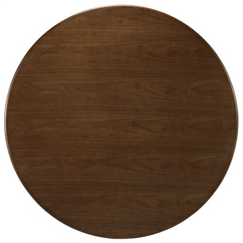 "Lippa 47"" Round Walnut Dining Table in Walnut"