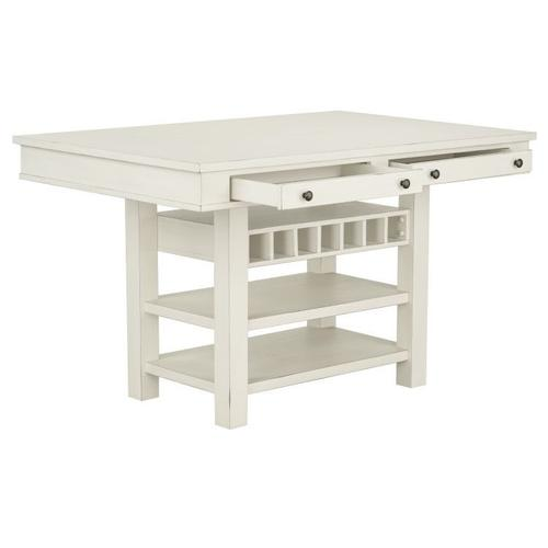 Standard Furniture - Chesapeake Bay Counter Height Dining Table with Storage, White