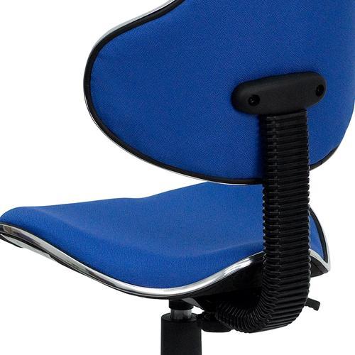 Gallery - Blue Fabric Swivel Ergonomic Task Office Chair