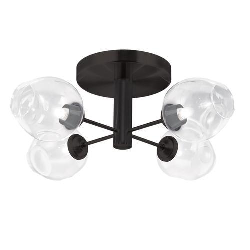 Product Image - 4lt Semi Flush, Mb W/ Clear Glass
