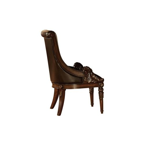 ARM CHAIR, BONDED LEATHER