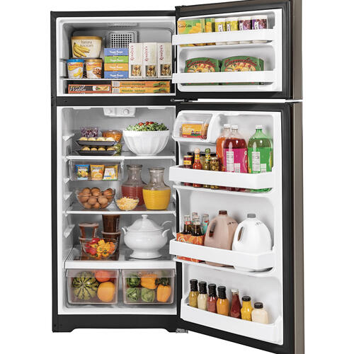 GE Energy Star® 17.5 Cu. Ft. Top-Freezer Refrigerator Slate - GTE18GMNRES