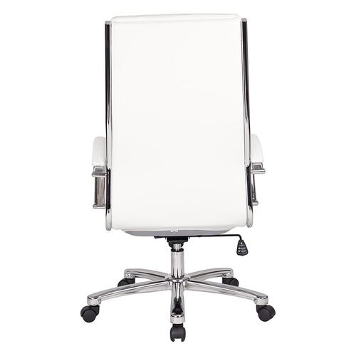 Office Star - High Back Executive White Faux Leather Chair