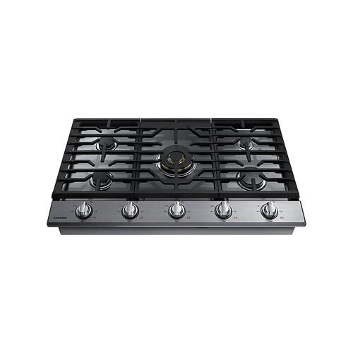 "36"" Smart Gas Cooktop with 22K BTU Dual Power Burner in Stainless Steel"