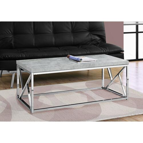 Gallery - COFFEE TABLE - GREY CEMENT WITH CHROME METAL