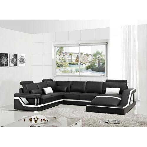 Divani Casa T271 - Modern Bonded Leather Sectional Sofa