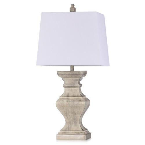 BOKAVA  16.5in w X 33.5in ht X 9.5in d  Square Candlestick Moulded Table Lamp  100 watts