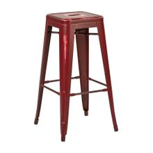 """See Details - Bristow 30"""" Antique Metal Barstool, Antique Red Finish, 2 Pack"""