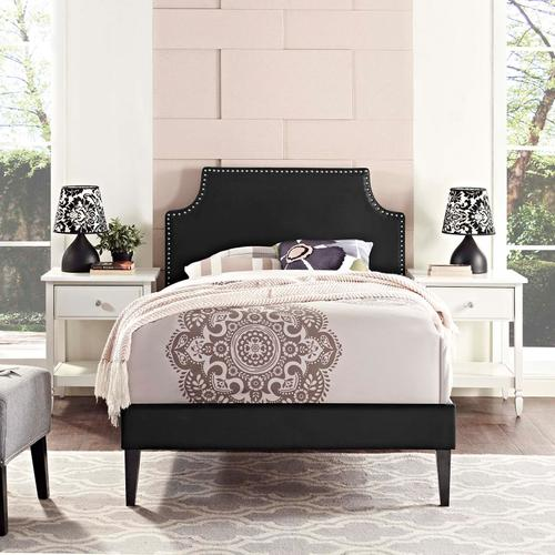 Modway - Corene Twin Vinyl Platform Bed with Squared Tapered Legs in Black