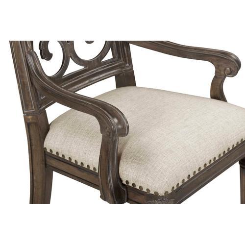 Vintage Salvage Tristan Fret Back Arm Chair