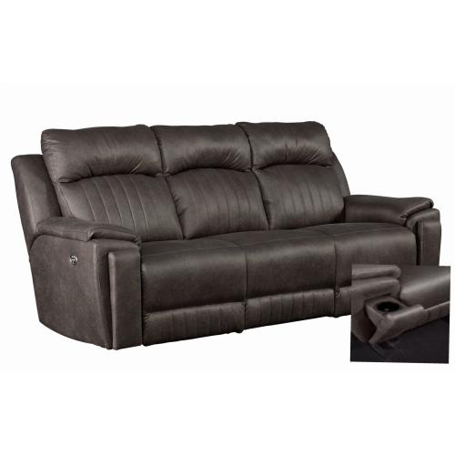 Power Headrest Sofa with Arm Cupholders