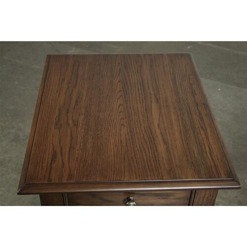 Rectangular Side Table - Plymouth Brown Oak Finish