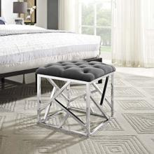 See Details - Intersperse Ottoman in Silver Gray