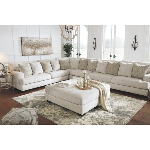 Rawcliffe Oversized Accent Ottoman Parchment