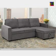 Sectional W/pull Out Bed & Reversible Storage Chaise
