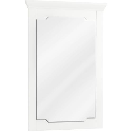 """22"""" x 34"""" White mirror with beveled glass"""