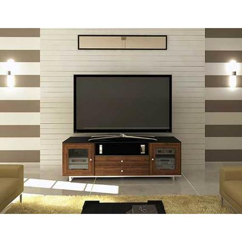 """Product Image - Natural Walnut AV Stand For TVs up to 80"""" and 150 lbs / 68 kg"""