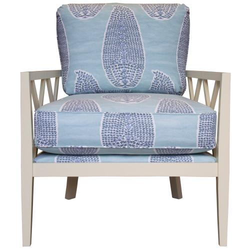 Occassional Chair, Available in Cottage white, Black Mahogany, and Spiced Rum finish.