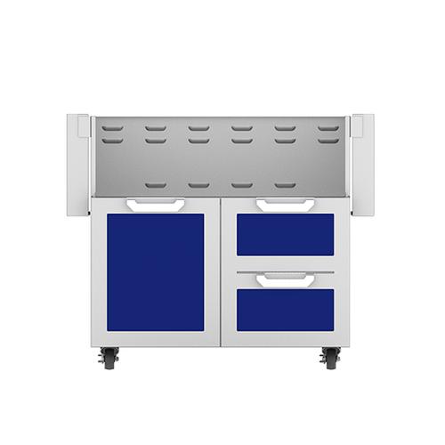 """Hestan - 36"""" Hestan Outdoor Tower Cart with Door/Drawer Combo - GCR Series - Prince"""