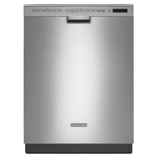 Gallery - KitchenAid® 24'' 6-Cycle/6-Option Dishwasher, Pocket Handle - Stainless Steel