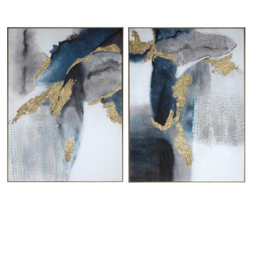 Crestview Collections - set of 2 Canvas Print with 50% Handpaint