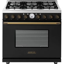 Range DECO 36'' Classic Black matte, Bronze 6 gas, electric oven, self-clean