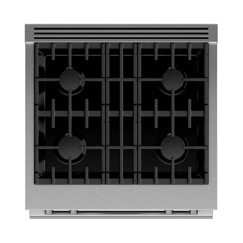 "Dual Fuel Range, 30"", 4 Burners, Self-cleaning, LPG"
