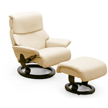 Stressless Vision Small Recliner and Ottoman