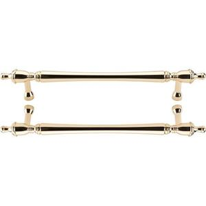 Top Knobs - Somerset Finial Door Pull Back to Back 18 Inch (c-c) Polished Brass