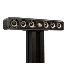 View Product - Slim Center Channel Loudspeaker For High-Resolution Home Theater Sound in Black